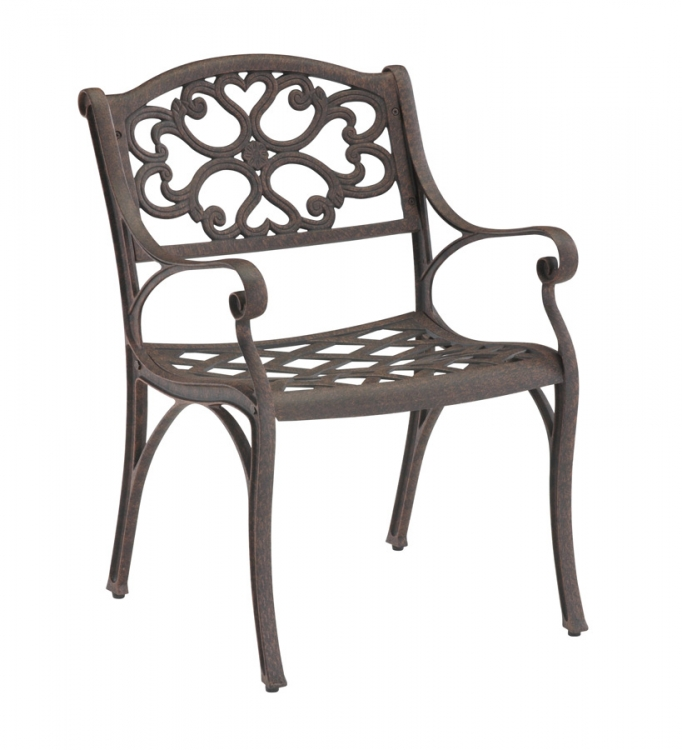 Arm Chair - Rust Brown - Home Styles