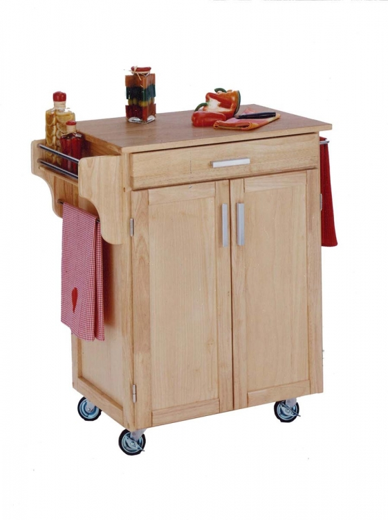 Cuisine Cart with Wood Top - Natural - Home Styles