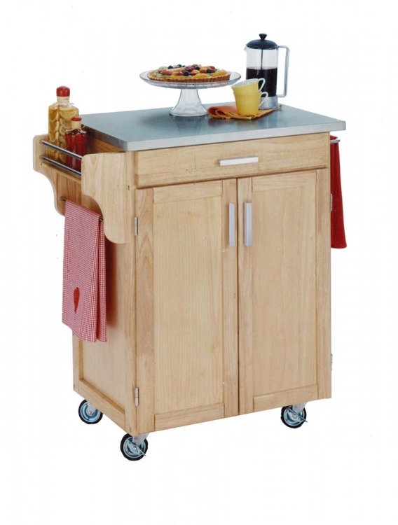 Cuisine Cart Stainless Top - Natural