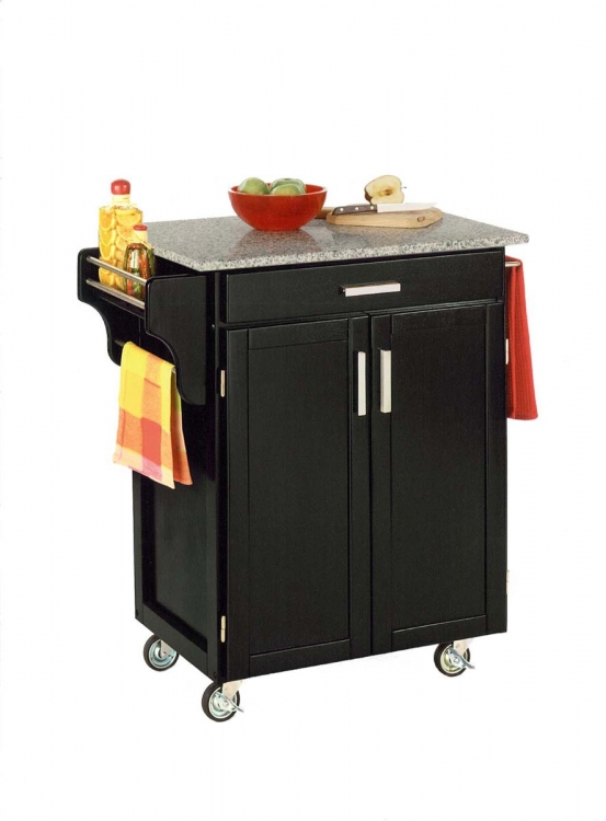 Cuisine Cart SP Granite Top - Black