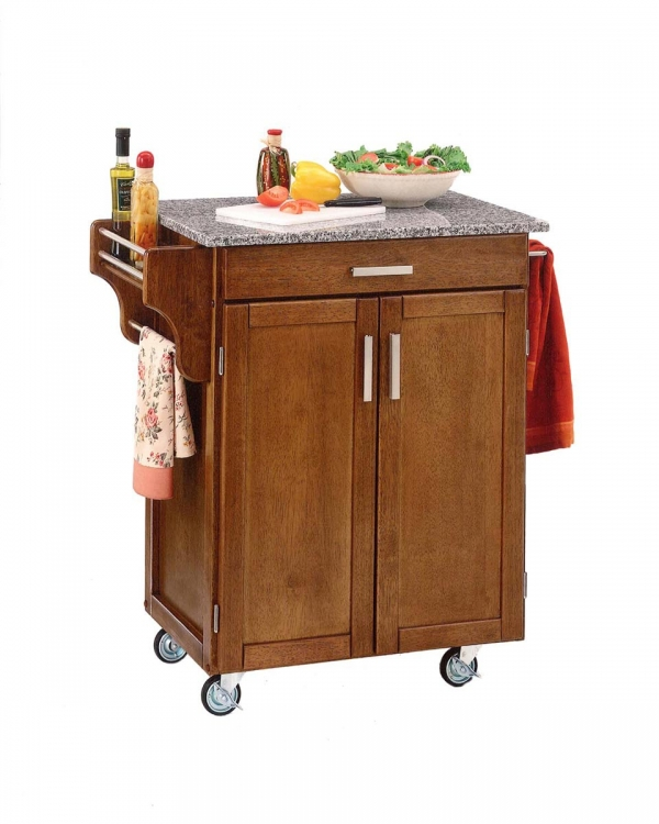 Cuisine Cart SP Granite Top - Cottage Oak - Home Styles