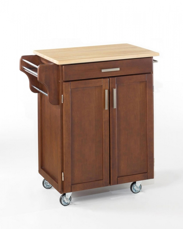 Cuisine Cart with Wood Top - Cherry
