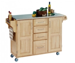 Create-A-Cart Stainless Top - Natural - Home Styles
