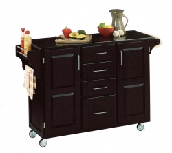 Create-A-Cart Black Granite Top - Black - Home Styles