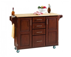 Create-A-Cart with Wood Top - Cherry - Home Styles