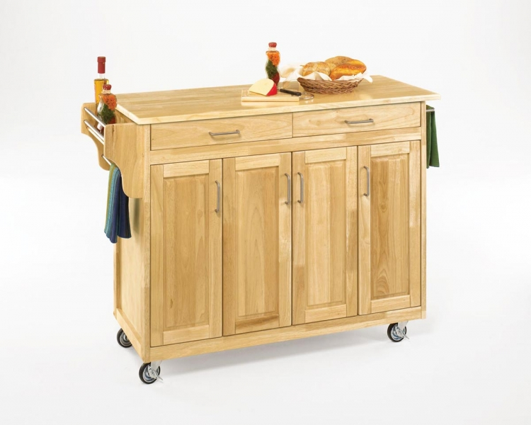 Create-A-Cart with Wood Top - Natural - Home Styles
