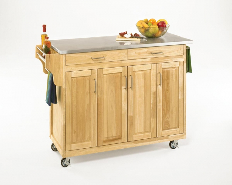 Create-A-Cart Stainless Top - Natural