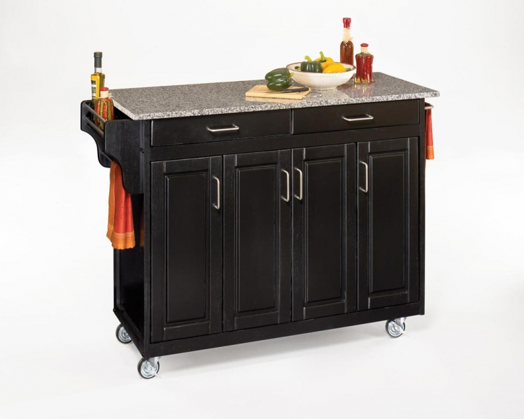 Create-A-Cart SP Granite Top - Black - Home Styles