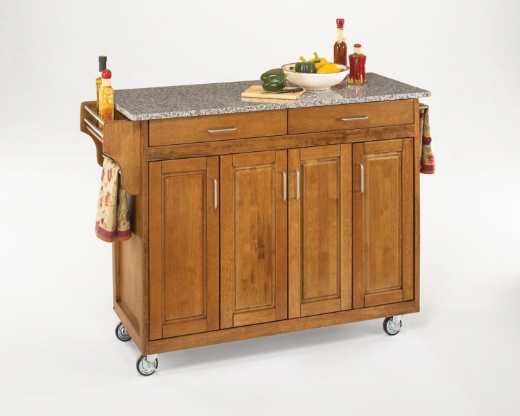 Create-A-Cart SP Granite Top - Cottage Oak - Home Styles