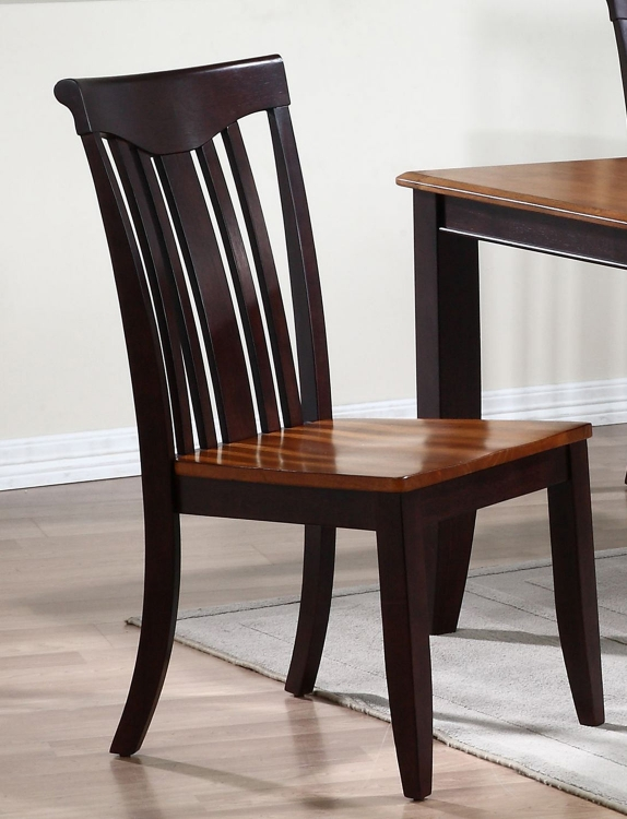 Modern Slat Back Dining Chair - Whiskey/Mocha