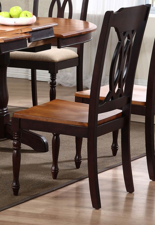 Traditional Back Dining Chair - Whiskey/Mocha