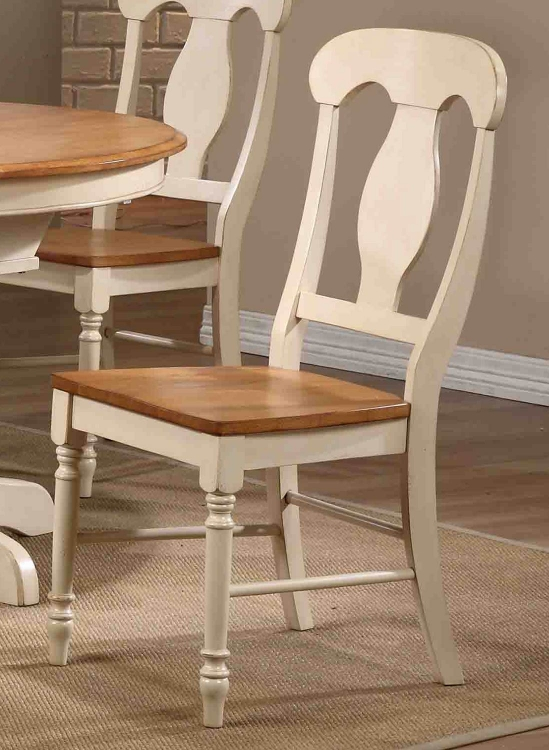 Napoleon Back Dining Chair - Caramel/Biscotti