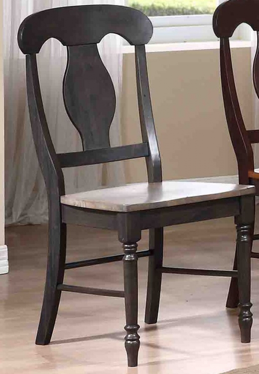 Napoleon Back Dining Chair - Grey Stone/Black Stone