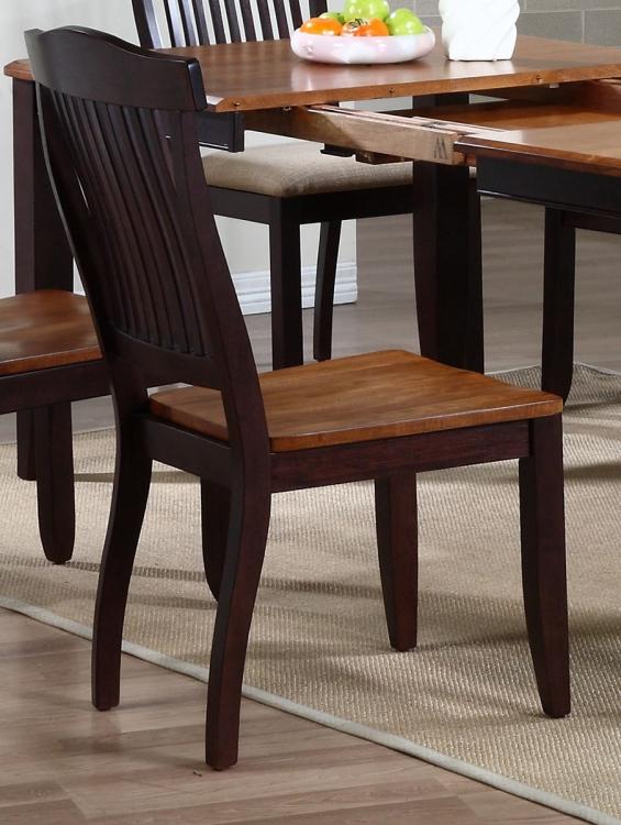 Open Slat Back Dining Chair - Whiskey/Mocha