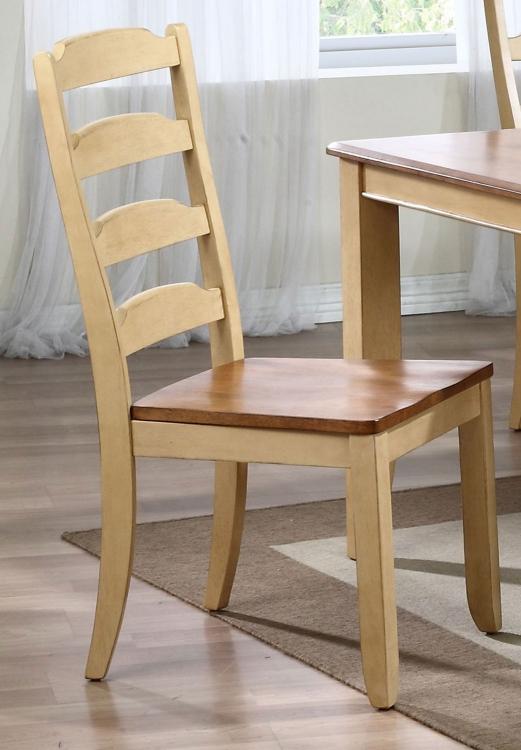 Ladder Back Dining Chair - Honey/Sand