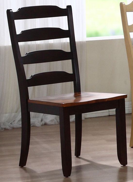 Ladder Back Dining Chair - Whiskey/Mocha