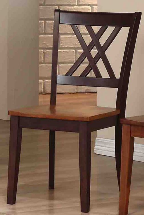 Double X-Back Dining Chair - Whiskey/Mocha