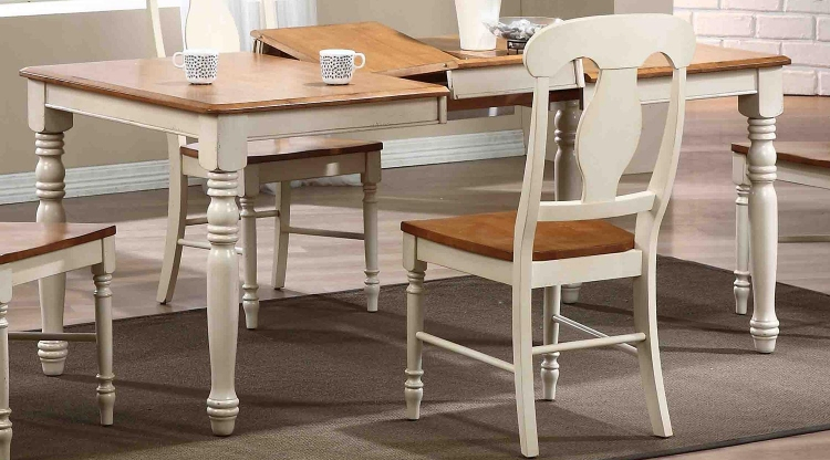 Rectangular Leg Dining Table - Caramel/Biscotti