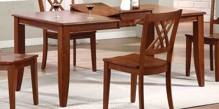 Rectangular Leg Dining Table - Cinnamon/Cinnamon