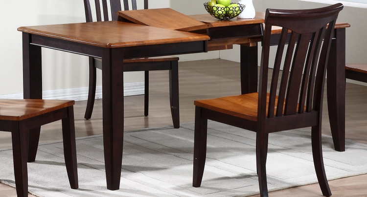 Rectangular Leg Dining Table - Whiskey/Mocha