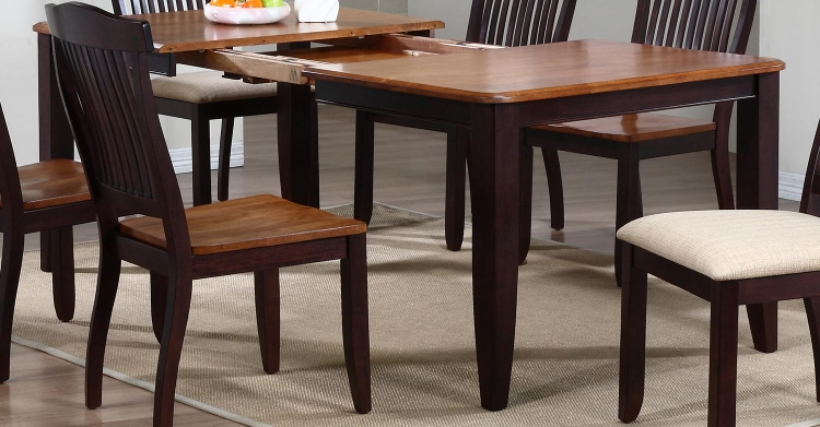 Rectangular Leg Dining Table - Whiskey/Mocha