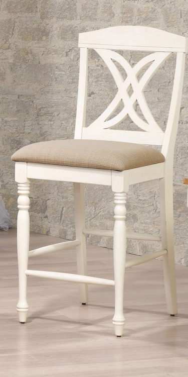 Butterfly Back 24-inch Counter Stool Upholstered Seat - Caramel/Biscotti