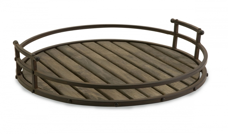 Vermont Iron and Wood Tray - IMAX