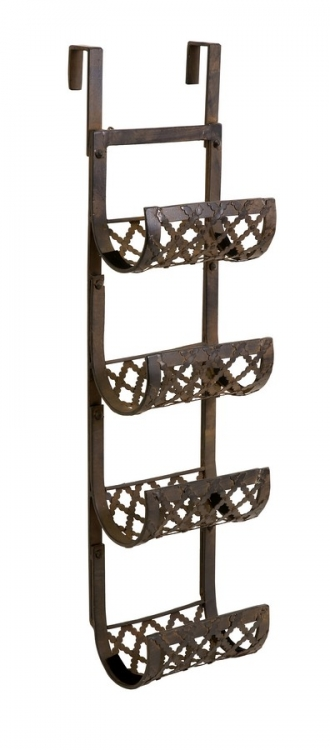 Urban Iron 3-Bottle Wine Rack For Wall or Door - IMAX
