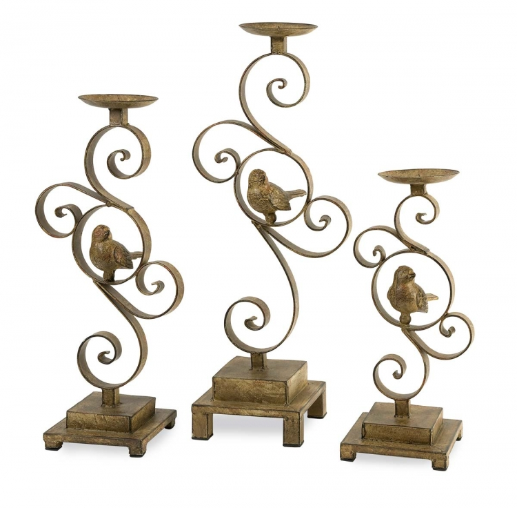 CKI Bristow Candle Holder - Set of 3 - IMAX