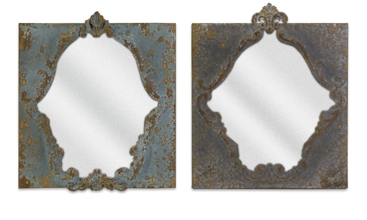 Campbell Iron Mirrors - Set of 2 - IMAX