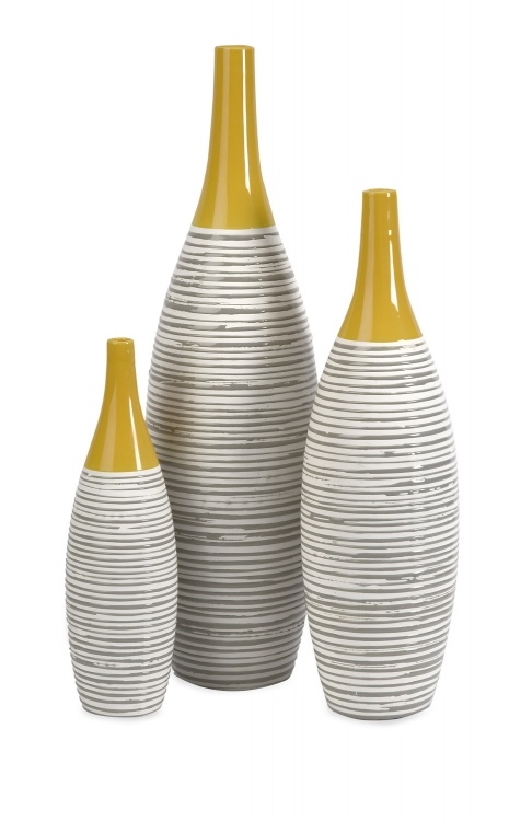 Andean Multi Glaze Vases-Set of 3 - IMAX