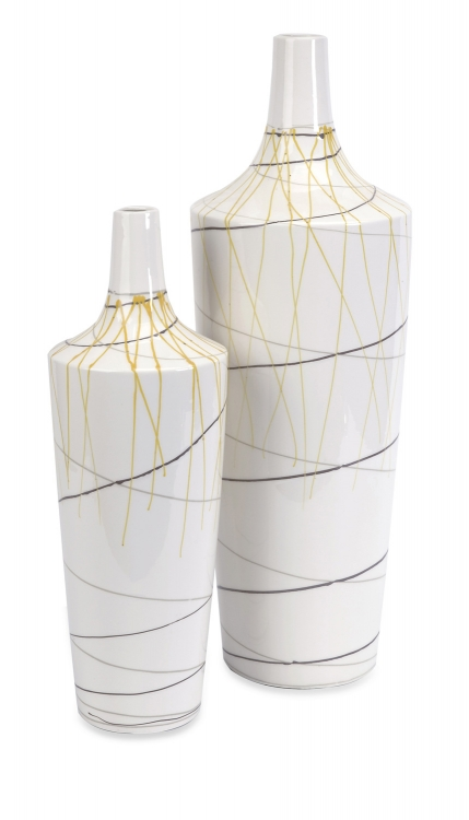 Curasso Retro Finish Vases-Set of 2 - IMAX