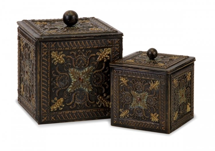 Arabian Nights Lidded Boxes - Set of 2 - IMAX