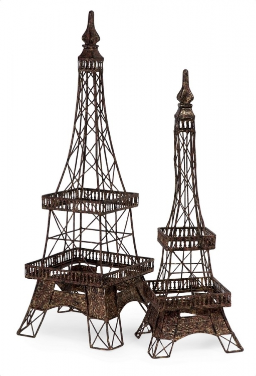 Eiffel Tower Accents - Set of 2