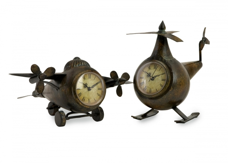 Lindbergh Aviation Clocks - Set of 2 - IMAX