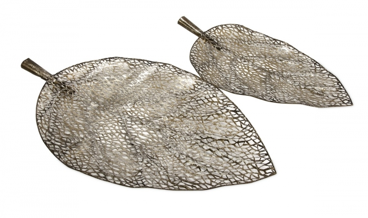 Elise Cutwork Leaf Trays - Set of 2