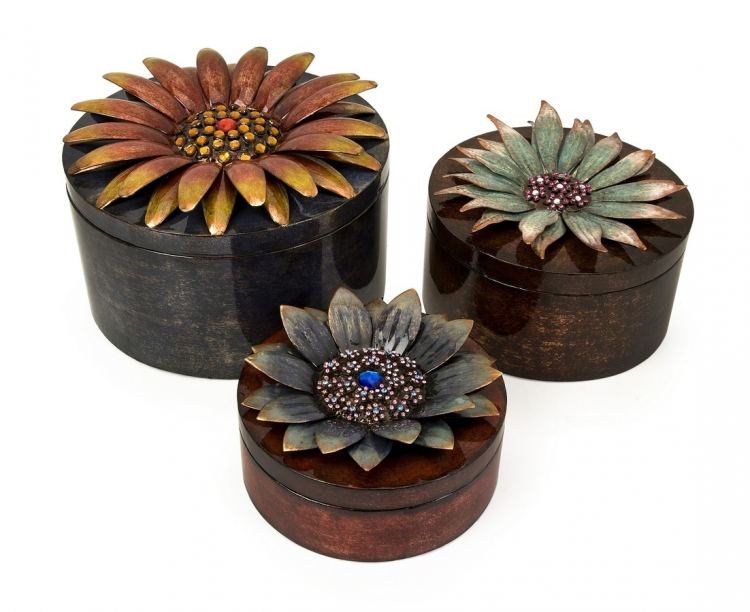 Felicity Dimensional Flower Storage Boxes - Set of 3