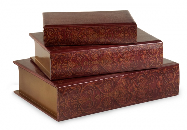 Nesting Wooden Book Boxes - Set of 3