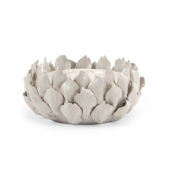 Low Artichoke Candle Holder