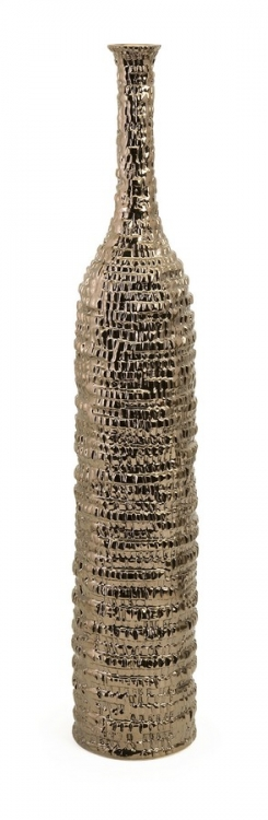 Zaras Tall Ceramic Bottle in Bronze Finish - IMAX