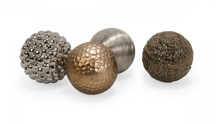Metallic Finished Orbs - Set of 4 - IMAX