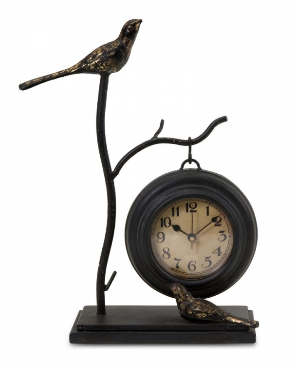 Bird and Branch with Hanging Clock - IMAX