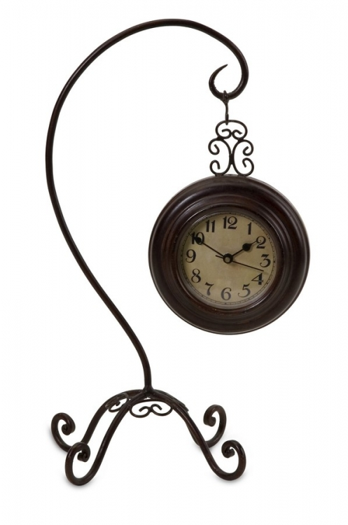 Hanging Clock on Curved Stand - IMAX