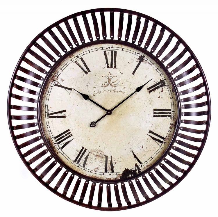 Banded Metal Wall Clock
