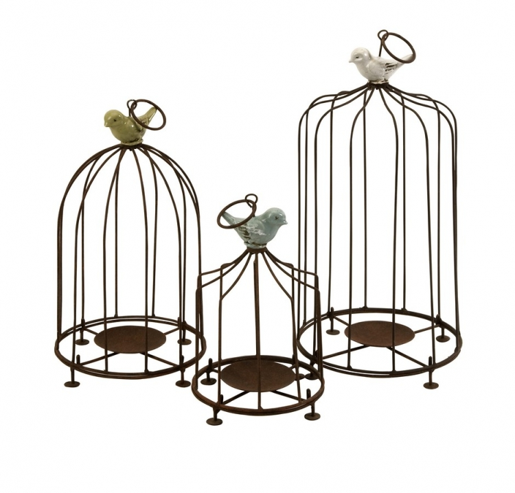 Louise Birdcage Candleholders - Set of 3 - IMAX