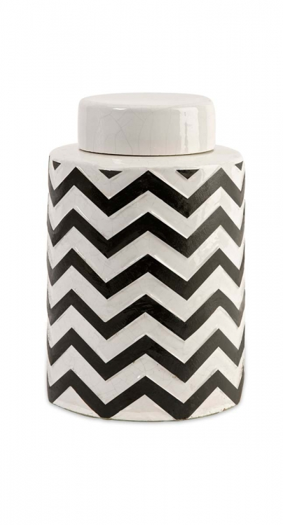 Chevron Small Canister w/ Lid