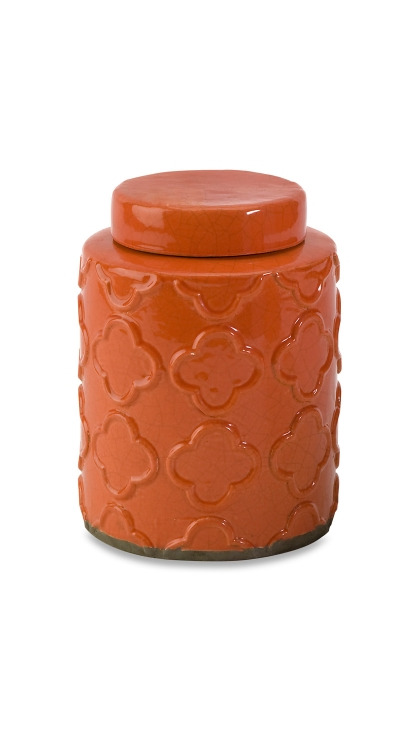 Essentials Small Orange Canister with Lid