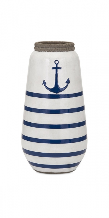 Anchor Small Handpainted Vase