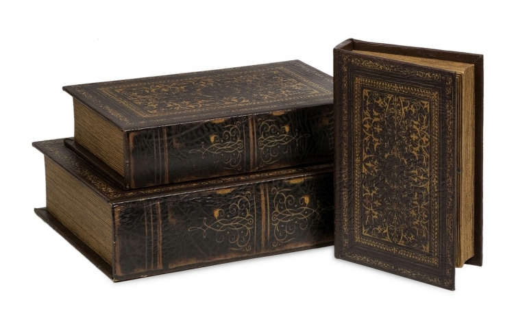 Old World Book Box Collection, Set of 3