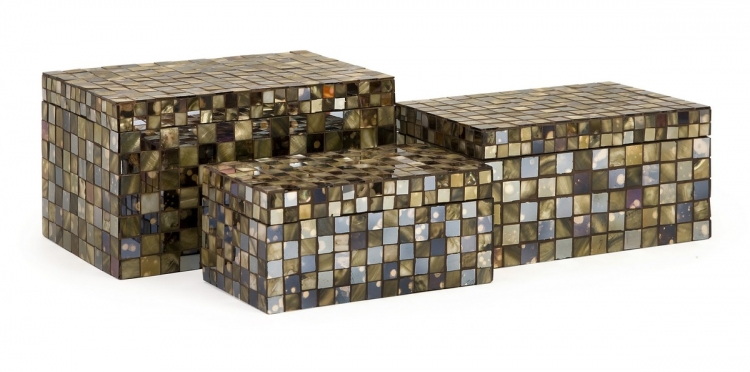 Noida Mosaic Boxes - Set of 3